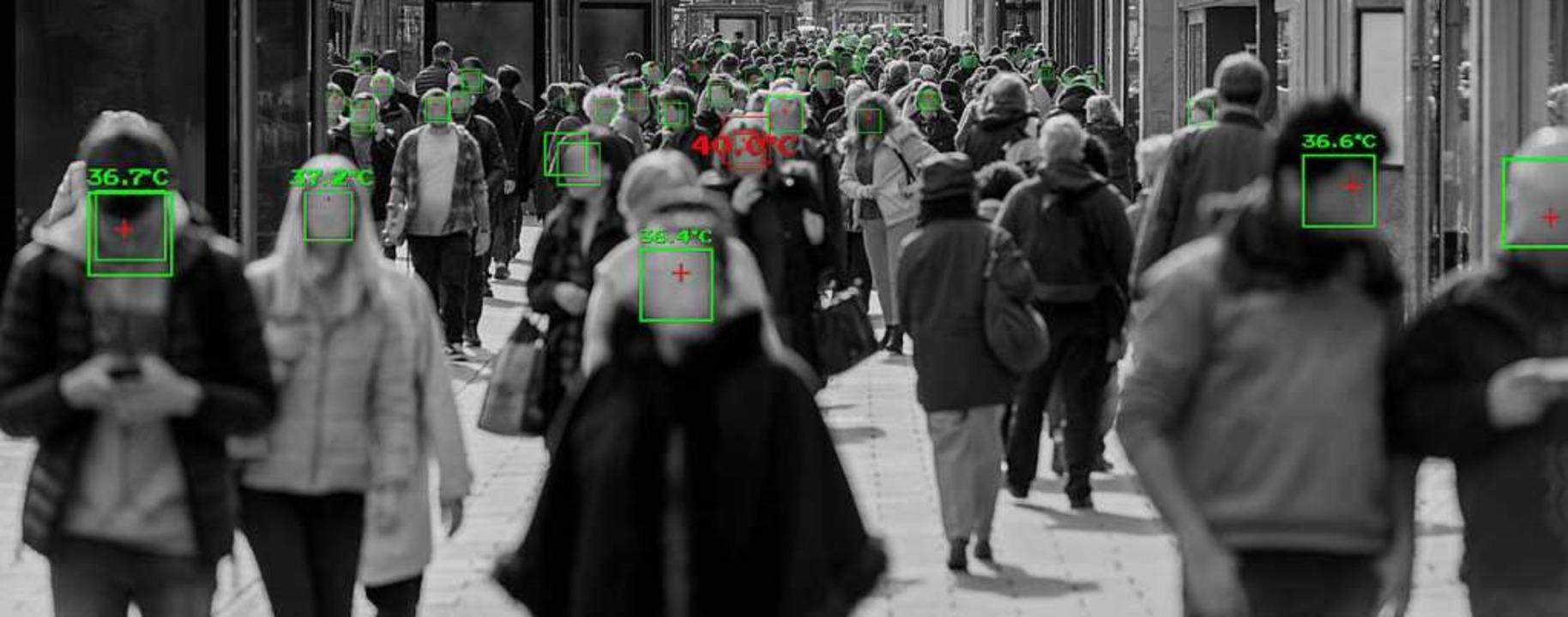 Temperatur messen via Überwachungskamera: Wollen wir das, Pandemie hin oder her?    Foto: Leszek