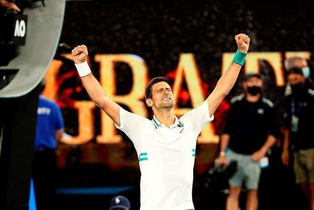 Novak Djokovic holt seinen neunten Titel in Melbourne