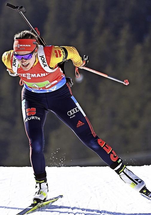 Janina Hettich kehrt mit einer Silberm...iathlon-WM in den Schwarzwald zurück.   | Foto: Sven Hoppe (dpa)