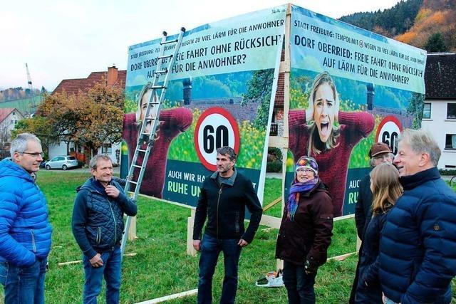 XXL-Wahlwerbung darf an der Straße stehen, ein Plakat für Tempo 60 nicht