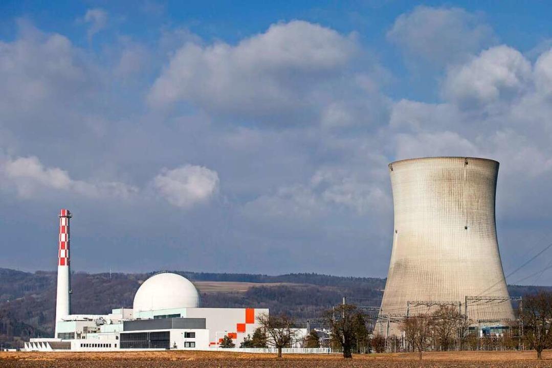 Das Kernkraftwerk Leibstadt wird sich ...heren Revision ohne Dampffahne zeigen.  | Foto: Alexandra Wey (dpa)