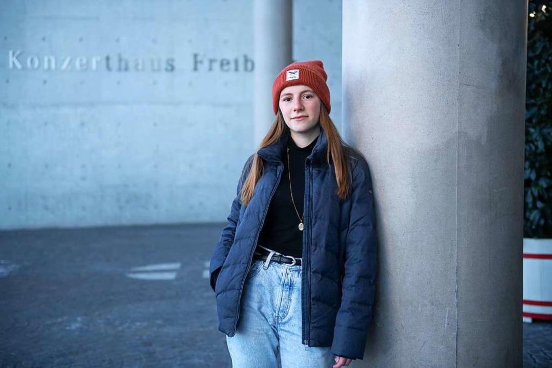 """Die Politik hört teilweise nich...t die 17-jährige Schülerin Maya Loewe.    Foto: Andree Kaiser"