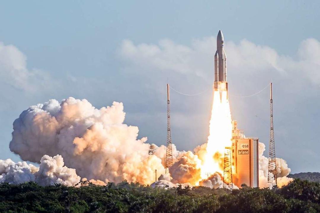 Start einer Ariane Rakete 2018  | Foto: -