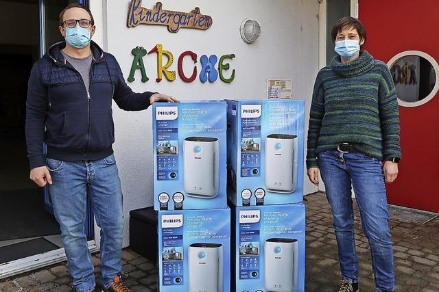 Luftreiniger sollen Kinder und Erzieherinnen schützen