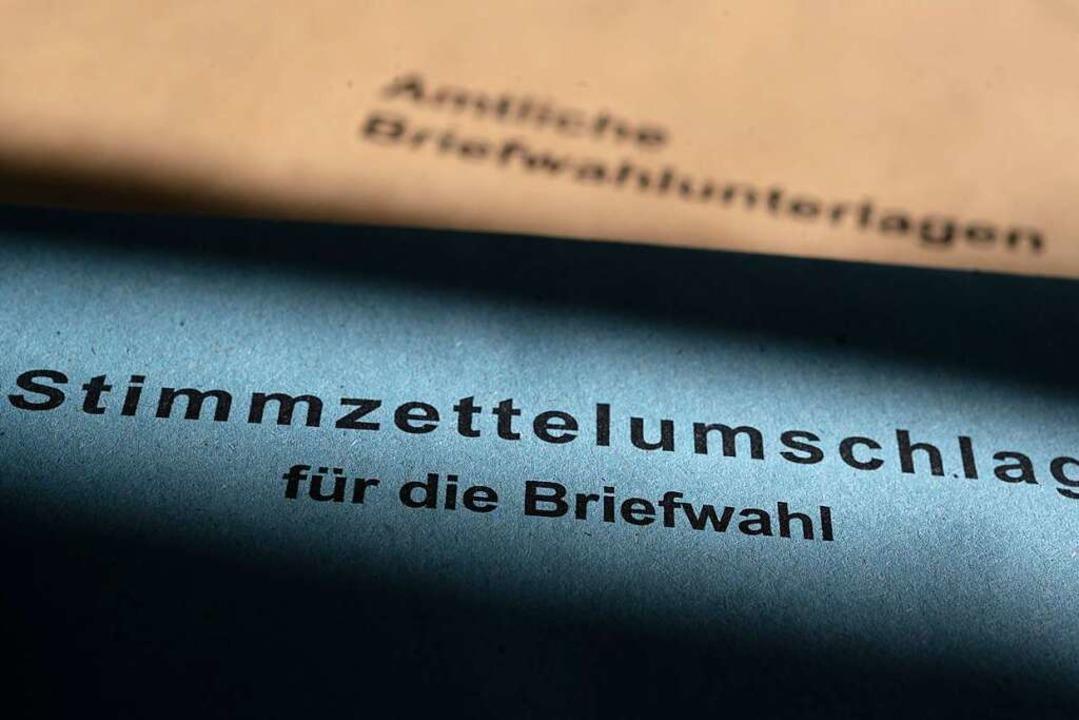 Briefwahlunterlagen für die Landtagswa...ie selben Wahlberechtigten verschickt.  | Foto: Sebastian Gollnow