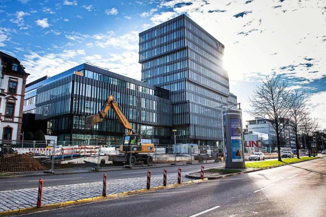 Der Neubau in Freiburg soll Ende Juni eröffnet werden.  | Foto: Volksbank Freiburg
