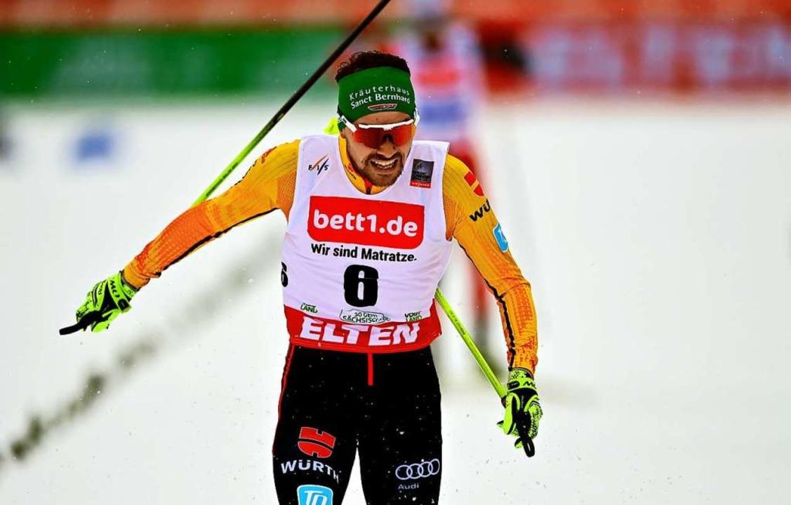 Die größten Medaillenchancen aus Sicht...r Nordische Kombinierer Fabian Rießle.  | Foto: Hendrik Schmidt (dpa)