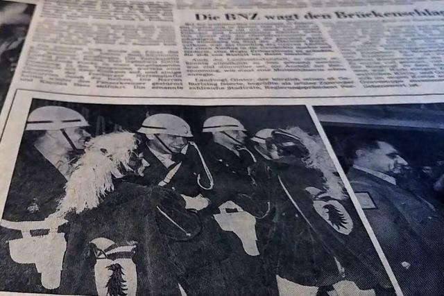1971 wurde in Freiburg ungezwungen Fasnet gefeiert