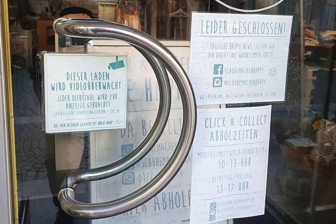 Noch haben die meisten Geschäfte gesch...n hoffen aber auf baldige Lockerungen.  | Foto: Michael Sträter