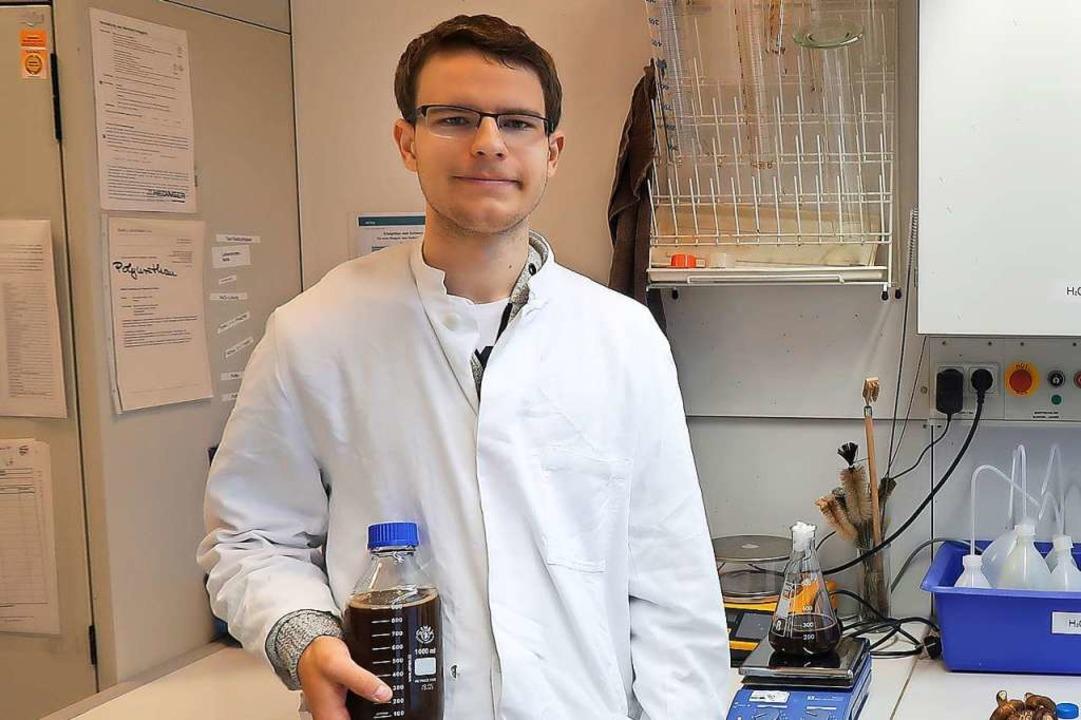 Niclas Dehler im Labor  | Foto: Privat