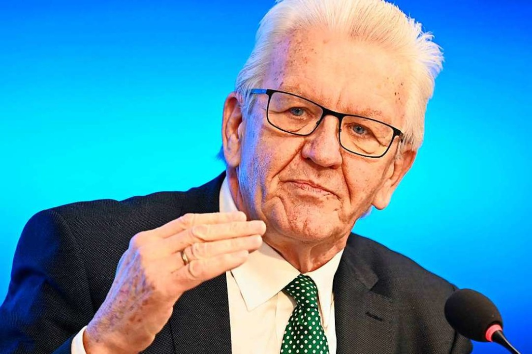 Winfried Kretschmann  | Foto: THOMAS KIENZLE (AFP)