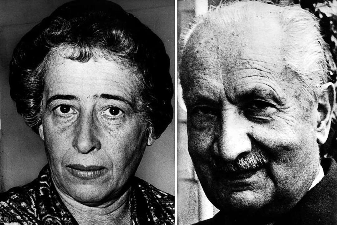Liebespaar und Philosophie: Hannah Are...n Heidegger, der Leidenschaft brauchte  | Foto: dpa
