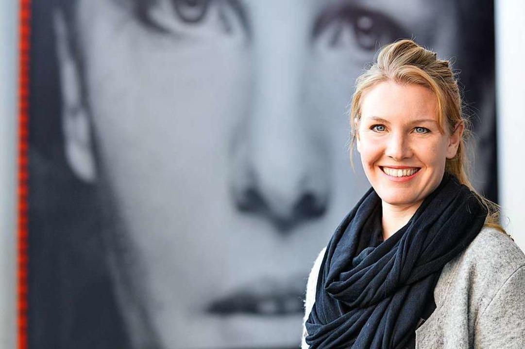 """Schauspielerin Janna Horstmann vor ihr...: """"Ganz schön unheimlich.""""    Foto: Michael Bamberger"""
