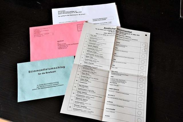 Briefwahl ist für Kandidaten im Wahlkreis Lörrach eine sichere Alternative