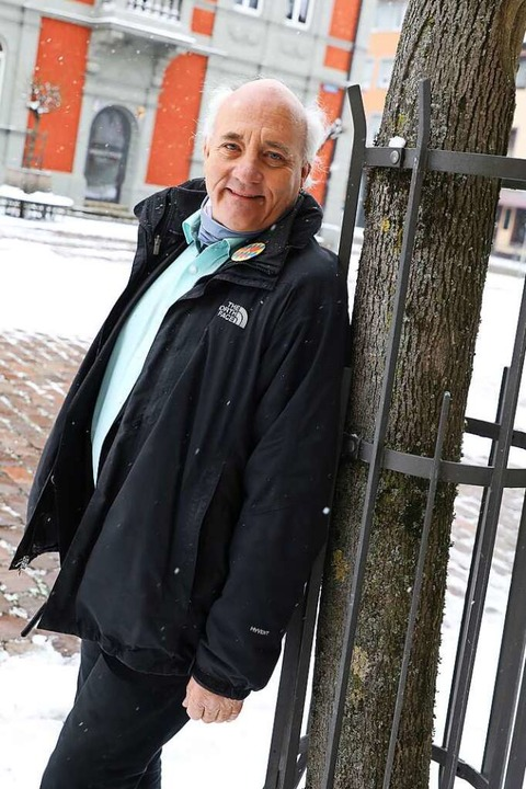 Grünenkandidat Alexander Schoch in seiner Heimatstadt Waldkirch  | Foto: Christoph Breithaupt