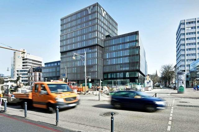 Freiburger Volksbank-Neubau soll Ende Juni fertig sein