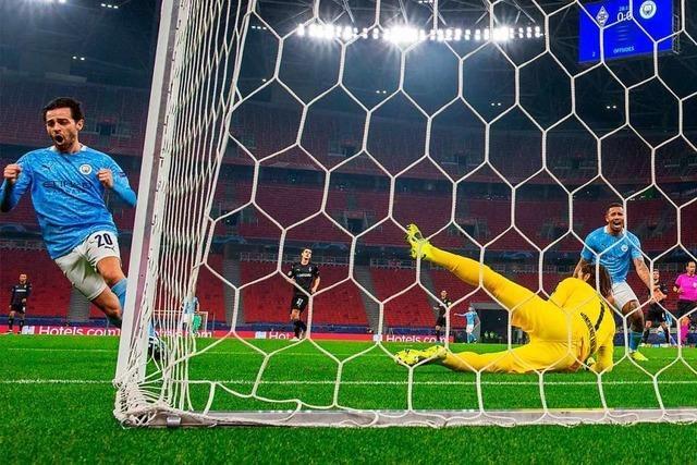 Gladbach beim 0:2 gegen Manchester City überfordert und chancenlos