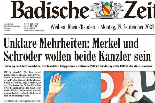 Bundestagswahl 2005: