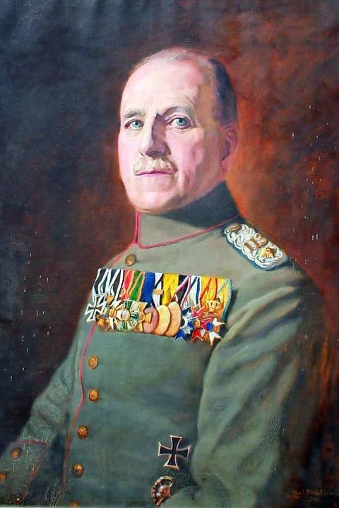 Max Knecht als hochdekorierter Oberstleutnant  | Foto: Vorlage Heiko Wegmann