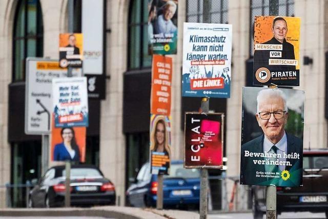 Was sind die Botschaften der Wahlplakate zur Landtagswahl?