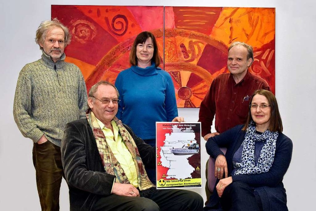 "Der Verein ""Fukushima nie verges...e) Wolfgang Lipp und Claudia Maiwald.   | Foto: Thomas Kunz"