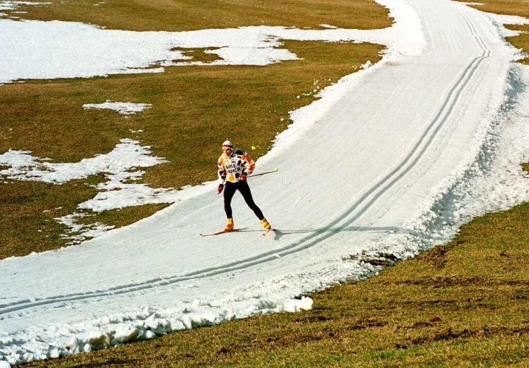 Sieht so der Winter der Zukunft aus? W...chonach 1999 auf mickrigem Restschnee.  | Foto: Rolf_Haid