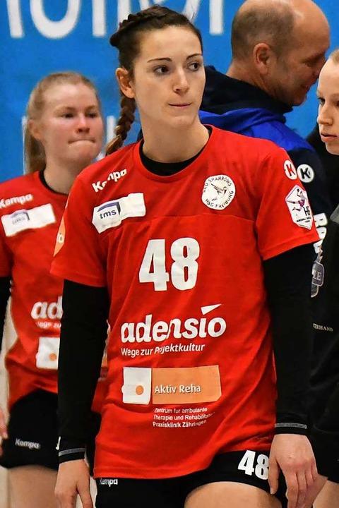 Enttäuscht nach einer Niederlage: Jess...itligasaison noch einige Punkte holen.  | Foto: Achim Keller