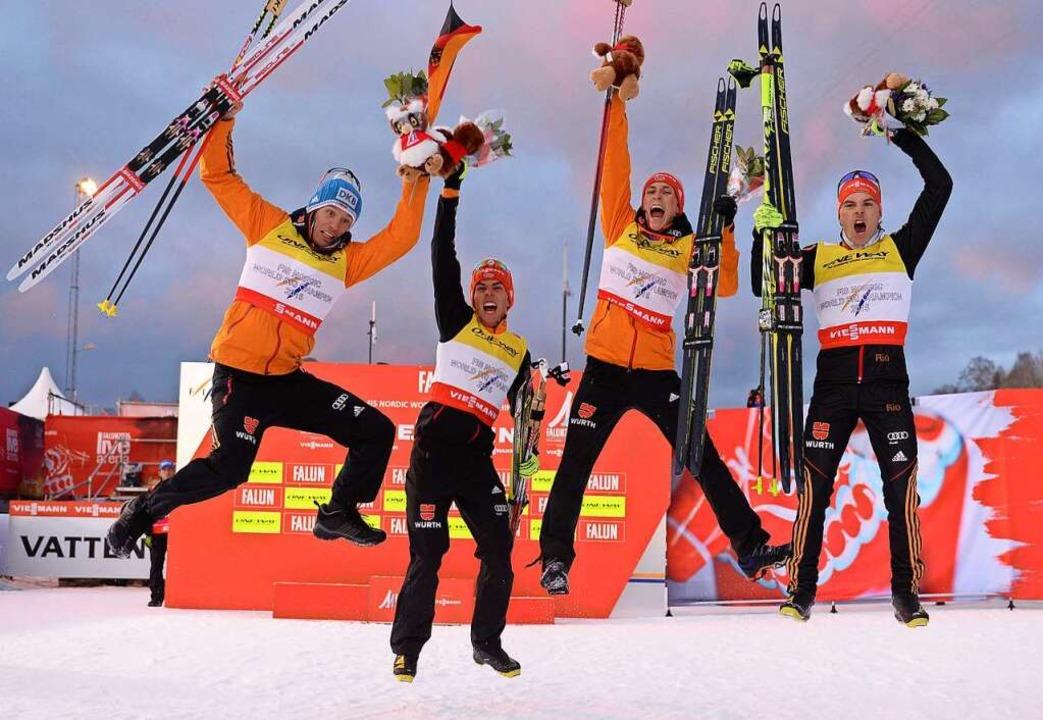 Fabian Rießle, Teamweltmeister in der Nordischen Kombination  | Foto: Hendrik Schmidt