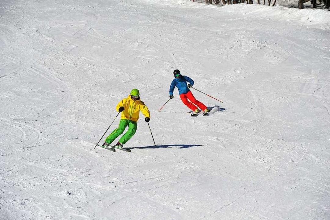 Skifahrer auf der Feldberg    Foto: Andrea Schiffner