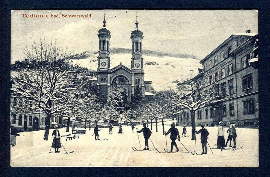 Die Begeisterung für den Skilauf ging ... Schneeschuhläufer auf dem Marktplatz   | Foto: privat