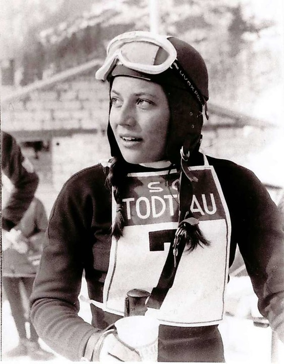 Rosi Mittermaier holte 1968 in Todtnau den Titel.  | Foto: privat
