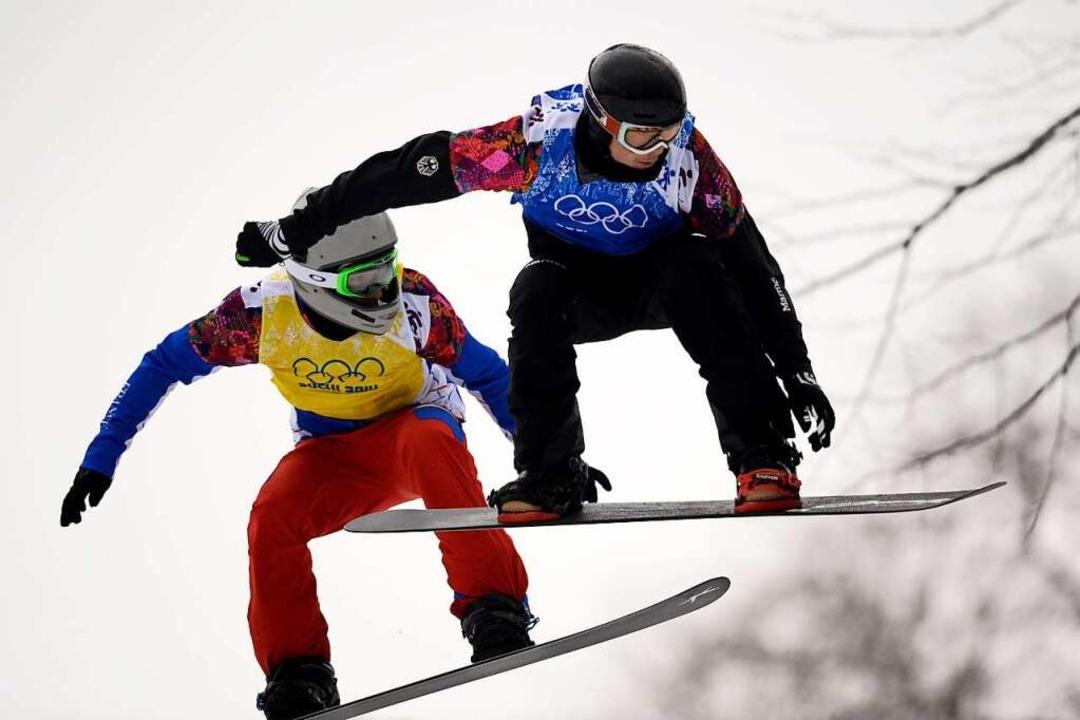 Der Snowboardcross-Weltcup kommt an den Feldberg.      Foto: FRANCK FIFE
