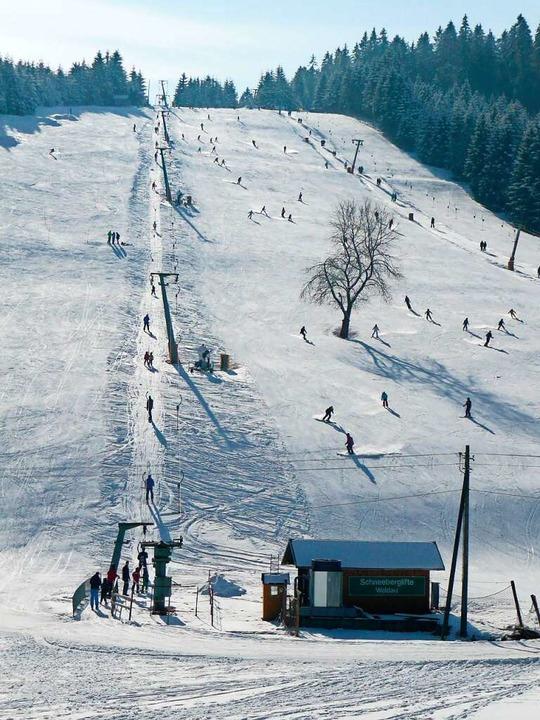 Der Schneeberghang in Waldau    Foto: peter stellmach