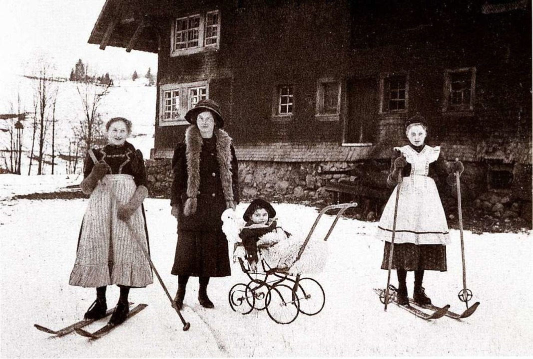 Skifahren in früheren Jahrhunderten in...useum eingerichtet wurde. FOTO: PRIVAT  | Foto: privat