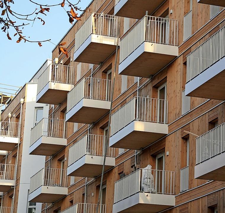 Holz wird auch  schon im Geschosswohnungsbau eingesetzt.    Foto: Lothar Ferstl
