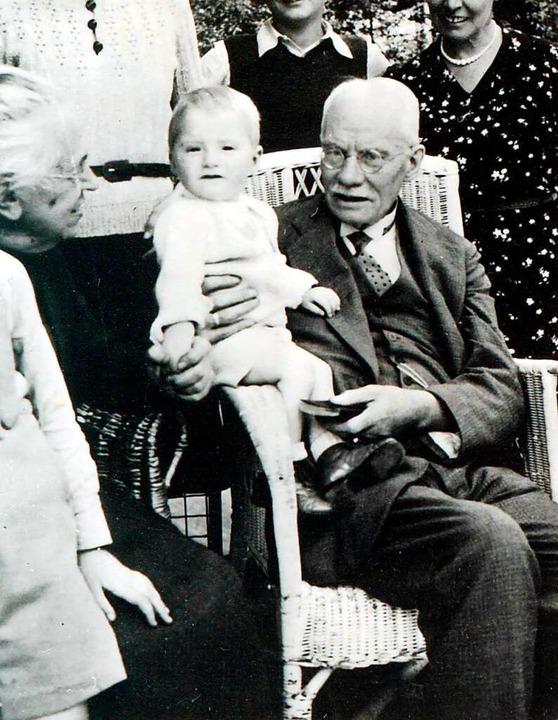 Constantin (rechts) mit Enkel Hermann Frese  | Foto: Privat