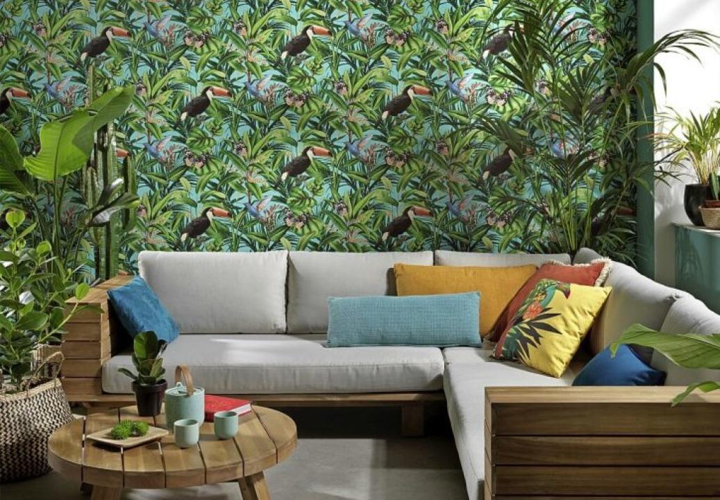 Bringen etwas Urlaub und Exotik an die Wand: Regenwaldmotive.  | Foto: DTI/Erismann