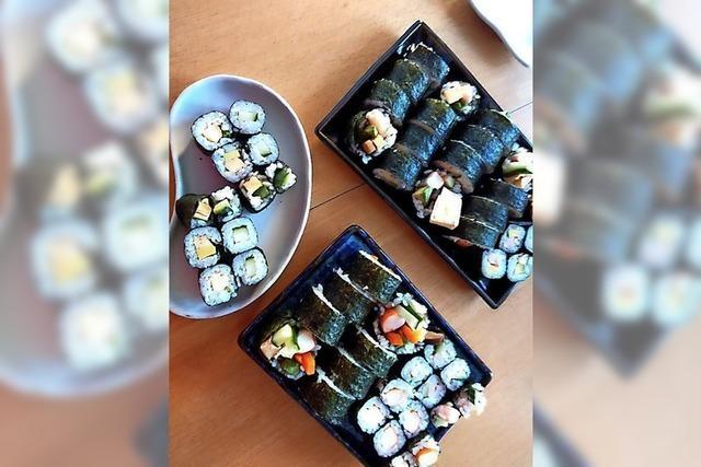 Sushi kann man auch einfach selber rollen