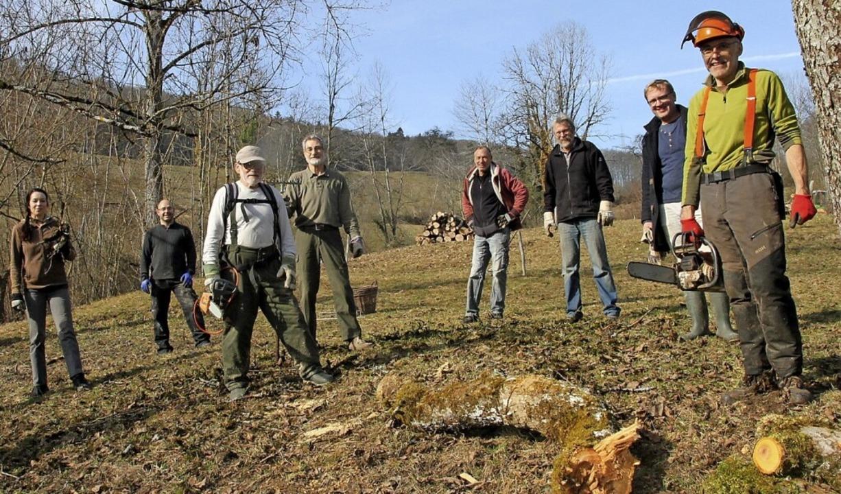 Die BUND-Mitglieder bei ihrem Großeinsatz     Foto: suedkurier