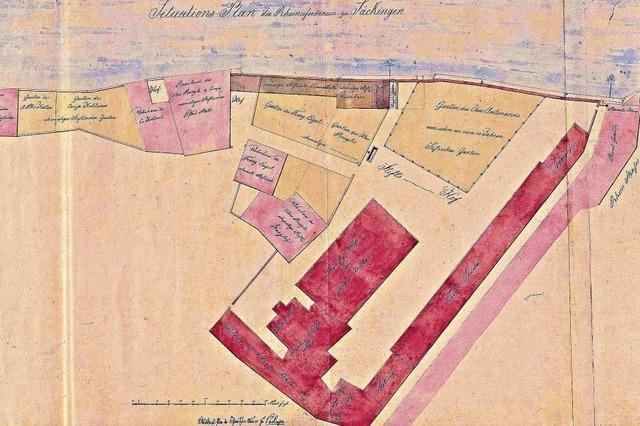 Alte Karte zeigt Baugeschichte