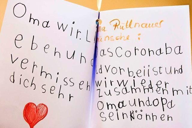 In Schopfheim wurden 100 Ballons mit Kinderwünschen in den Himmel geschickt