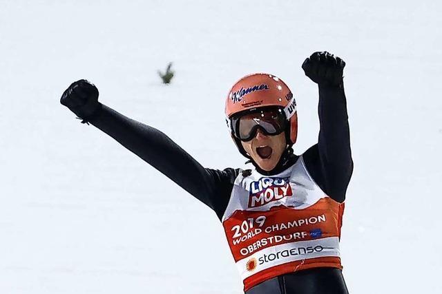 Die Serie geht weiter: Deutsches Mixed-Team gewinnt Gold im Skispringen