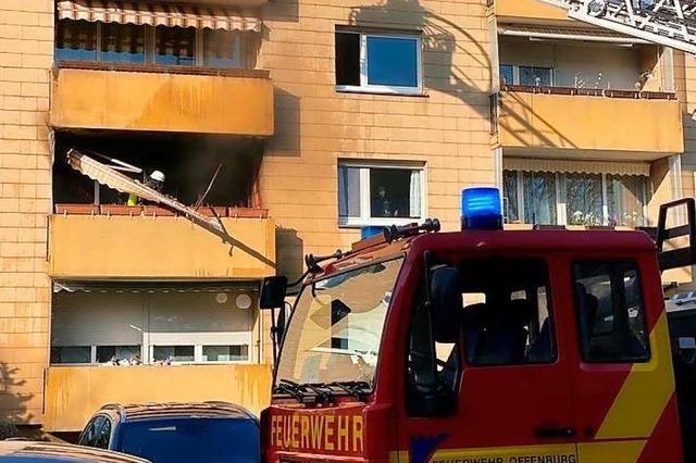 Balkonbrand in Offenburg verursacht hohen Schaden