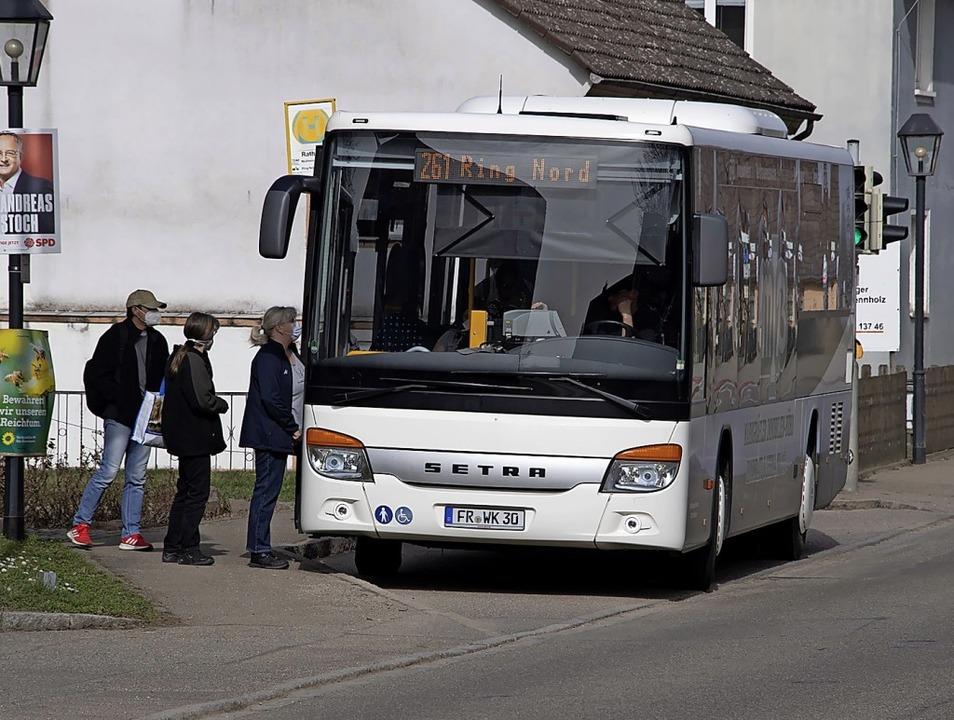 Derzeit noch ist die Ringlinie Nord eine wichtige Busverbindung für Hügelheim.   | Foto: Volker Münch