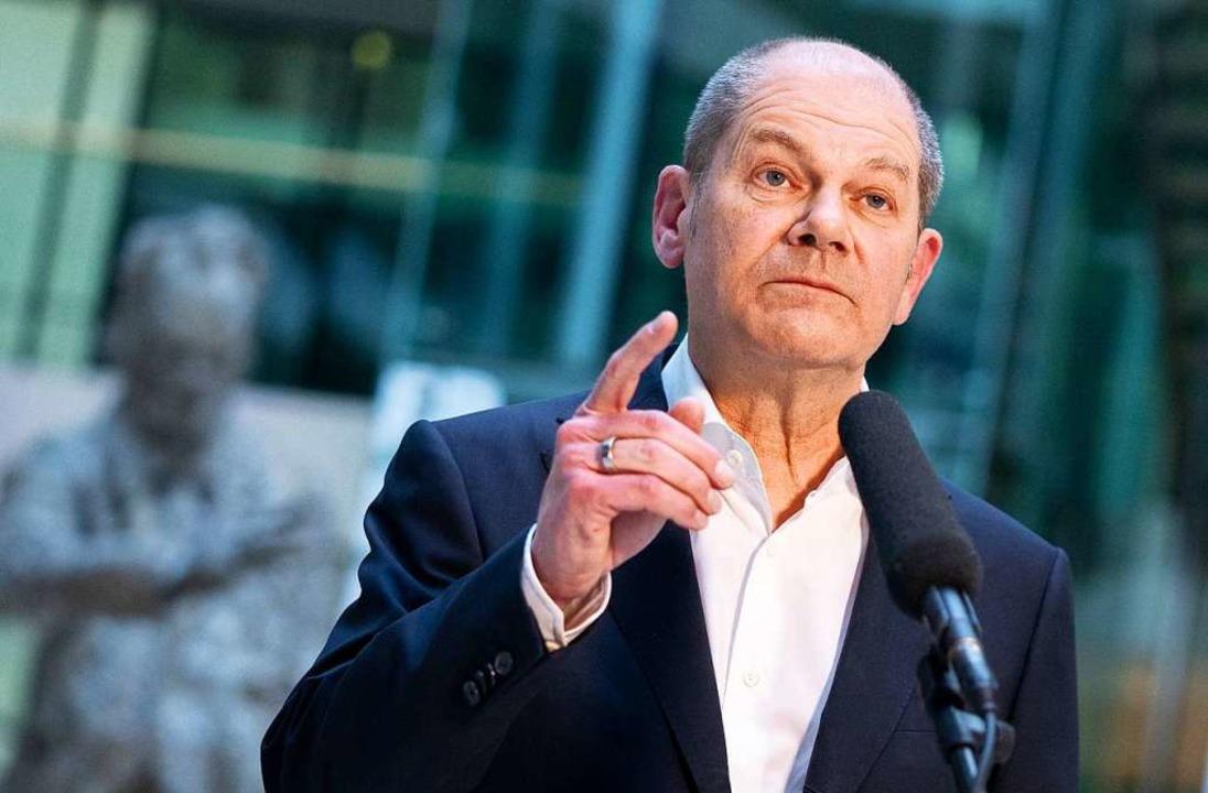 Olaf Scholz ist der Kanzlerkandidat der SPD.    | Foto: Kay Nietfeld (dpa)