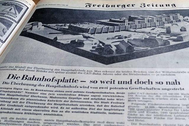 1971 gab es Pläne, Freiburgs Bahnhof unter die Erde zu bringen