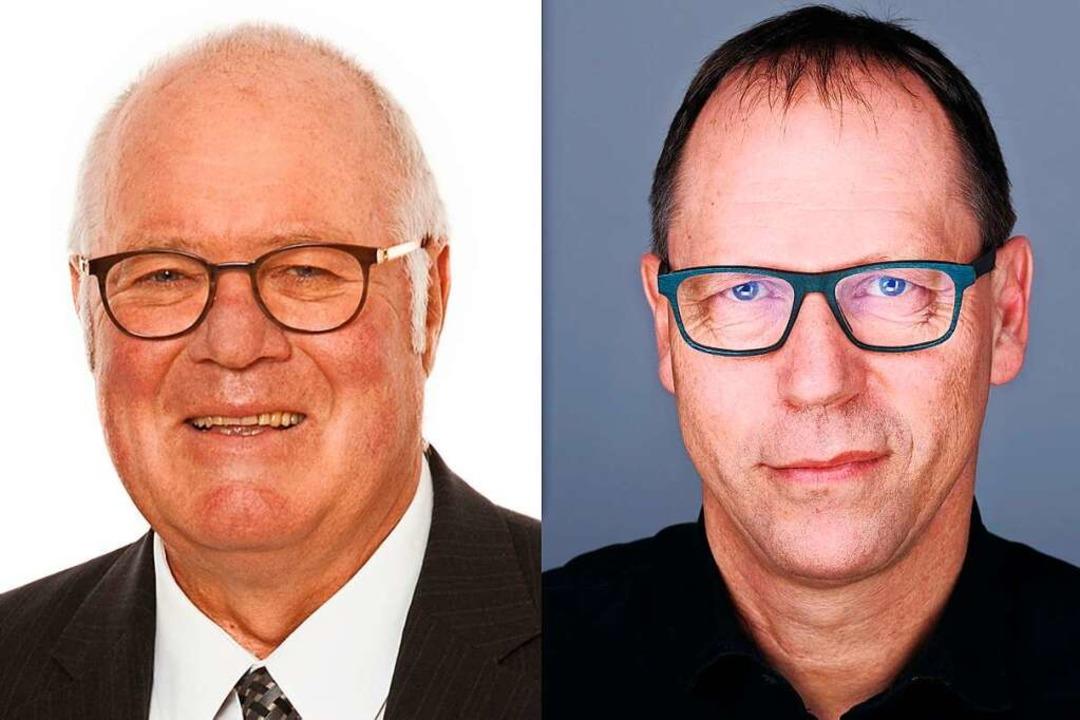 Wolfgang Poppen (links), Verleger der ...tung und Thomas Fricker, Chefredakteur  | Foto: BZ/Miroslav Dakov