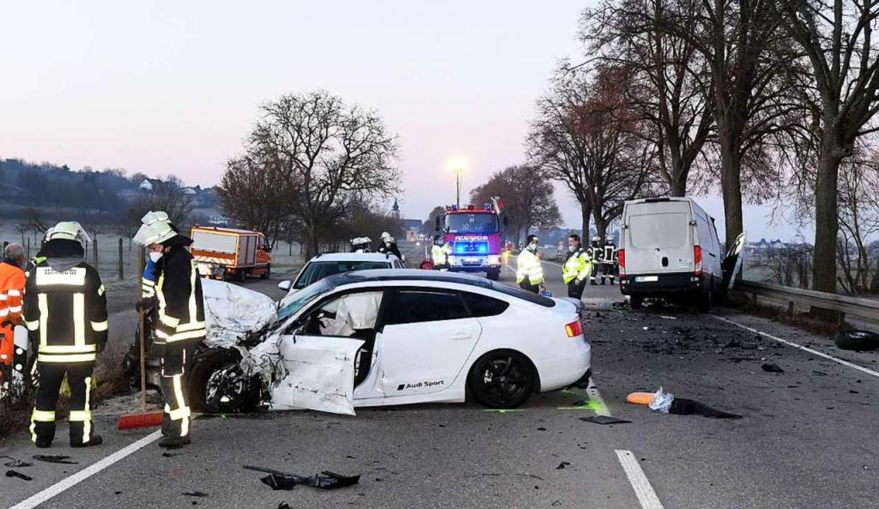 Ein Audi-Fahrer hat mutmaßlicherweise den Unfall verursacht.    Foto: Wolfgang Künstle