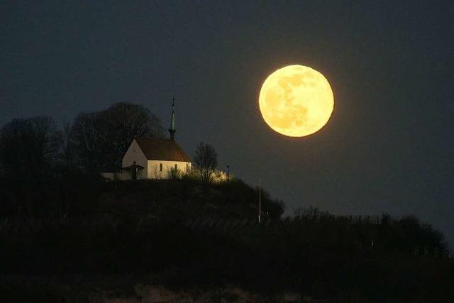 So nah an Munzingen wie am Samstag ist der Mond selten
