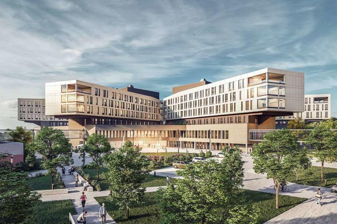 Visualisierung des zukünftigen Zentralklinikums  | Foto: sander.hofrichter architekten GmbH